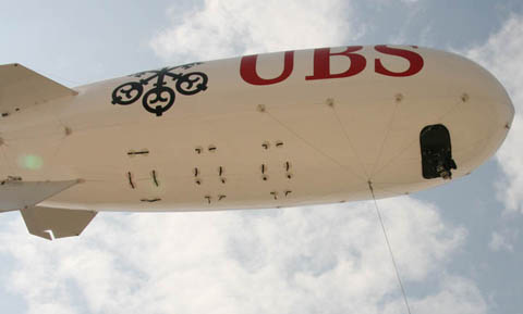 AS10 Blimp in tethered configuration with 3 Axis Gyro Stabilised Camera