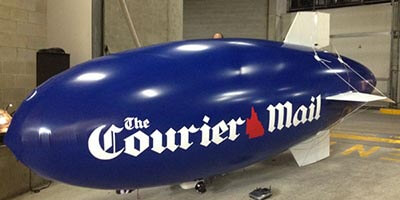 5m courier mail blimp